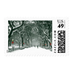 Central Park Snowy Path Postage Stamps