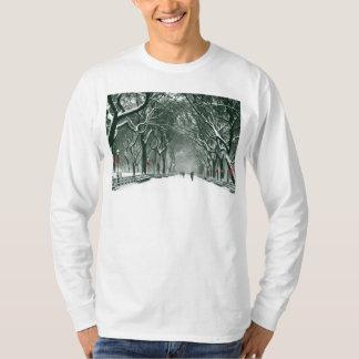 Central Park Snowy Path T-Shirt