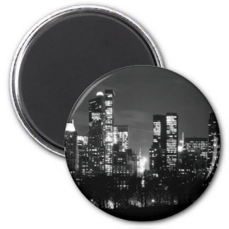 Central Park South 2 Inch Round Magnet