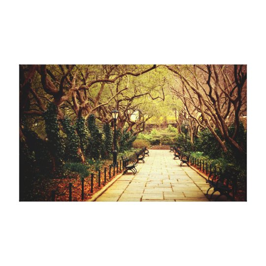 Central Park Spring Path - New York City Canvas Print
