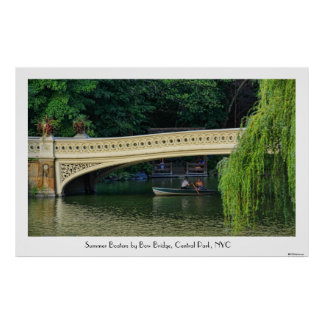 Central Park: Summer Boaters by Bow Bridge 1C Poster