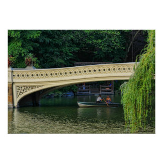 Central Park: Summer Boaters by Bow Bridge Poster