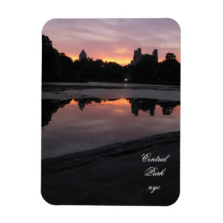 central park sunset nyc new york city rectangular photo magnet