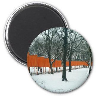 Central Park - The Gates Exhibit 2 Inch Round Magnet