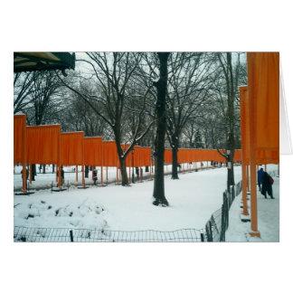 Central Park - The Gates Exhibit Card