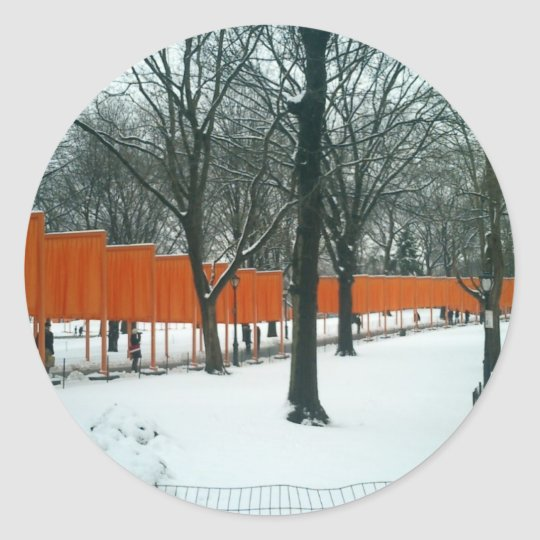 Central Park - The Gates Exhibit Classic Round Sticker