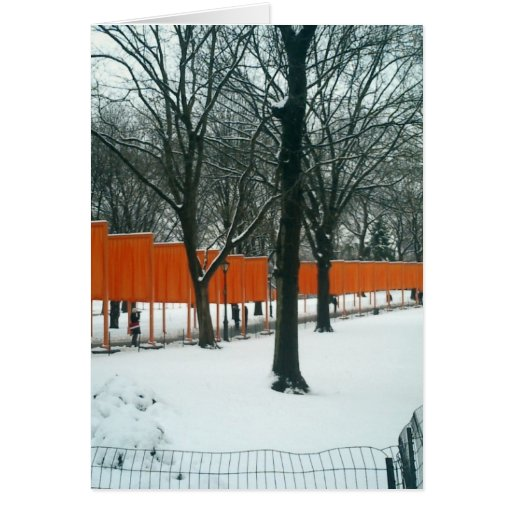 Central Park - The Gates Exhibit Greeting Cards