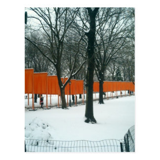 Central Park - The Gates Exhibit Postcard
