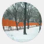Central Park - The Gates Exhibit Round Sticker