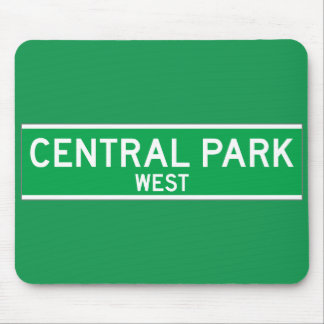Central Park West, New York Street Sign Mouse Pad
