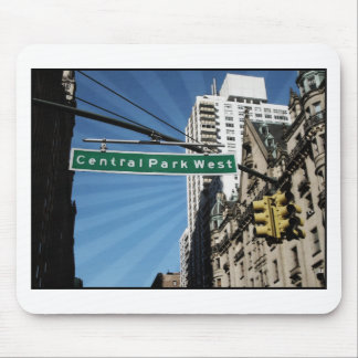 Central Park West Street New York New York Mouse Pad