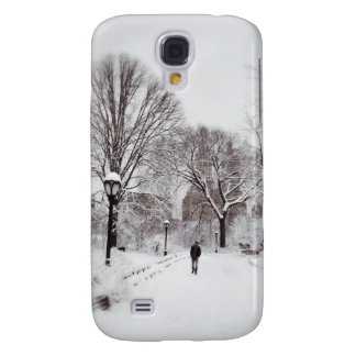 Central Park White Out Galaxy S4 Cover