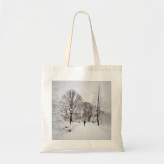 Central Park White Out Tote Bag