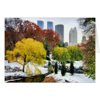 Central Park Winter and Fall Card