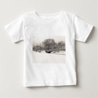 Central Park Winter - Bow Bridge Snow Baby T-Shirt