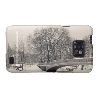 Central Park Winter - Bow Bridge Snow Samsung Galaxy S2 Cover