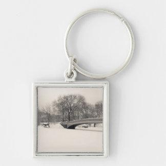 Central Park Winter - Bow Bridge Snow Keychain