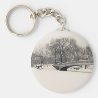 Central Park Winter - Bow Bridge Snow Key Chain