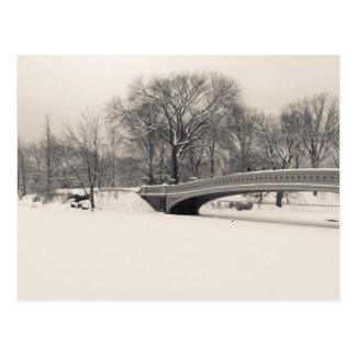 Central Park Winter - Bow Bridge Snow Postcard