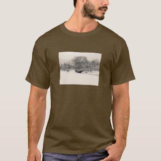 Central Park Winter - Bow Bridge Snow T-Shirt