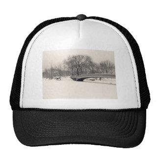 Central Park Winter - Bow Bridge Snow Trucker Hat