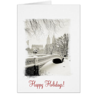 Central Park Winter - Happy Holidays Card