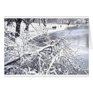 Central Park Winter Lake Greeting Card