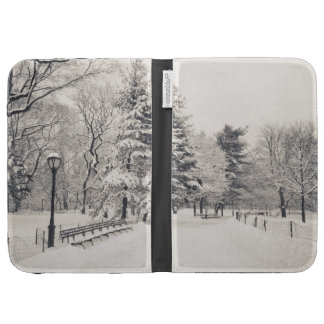 Central Park Winter Path - New York City Kindle Keyboard Covers