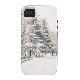 Central Park Winter Path - New York City Vibe iPhone 4 Covers