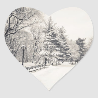 Central Park Winter Path - New York City Heart Sticker
