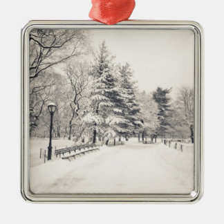 Central Park Winter Path - New York City Ornament