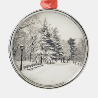 Central Park Winter Path - New York City Ornaments