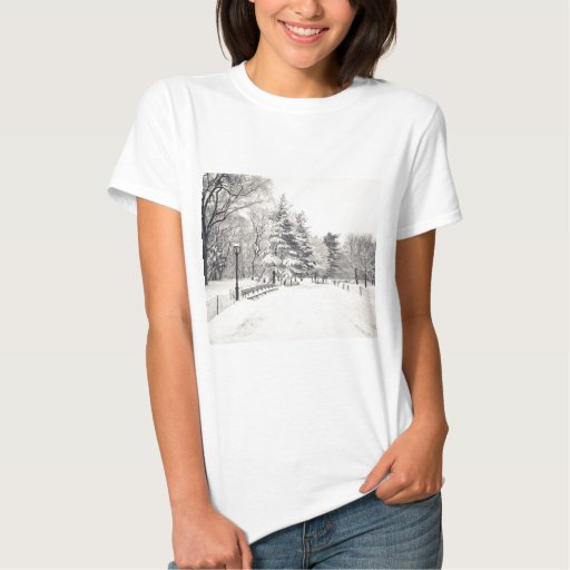 Central Park Winter Path - New York City Shirts
