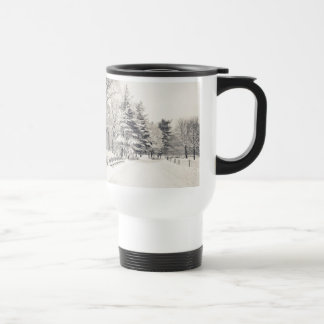 Central Park Winter Path - New York City Travel Mug