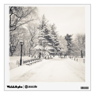 Central Park Winter Path - New York City Wall Decal