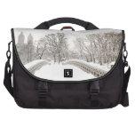 Central Park Winter Romance - Bow Bridge Computer Bag