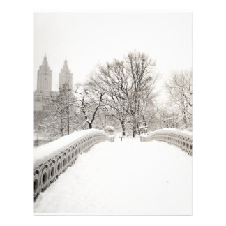Central Park Winter Romance - Bow Bridge Letterhead