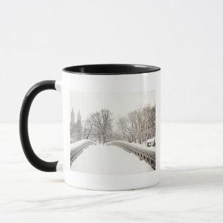 Central Park Winter Romance - Bow Bridge Mug