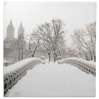 Central Park Winter Romance - Bow Bridge Napkin