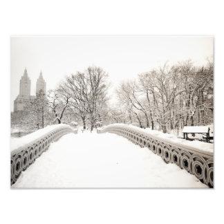 Central Park Winter Romance - Bow Bridge Photo Print