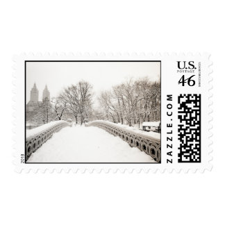 Central Park Winter Romance - Bow Bridge Stamps