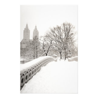 Central Park Winter Romance - Bow Bridge Stationery