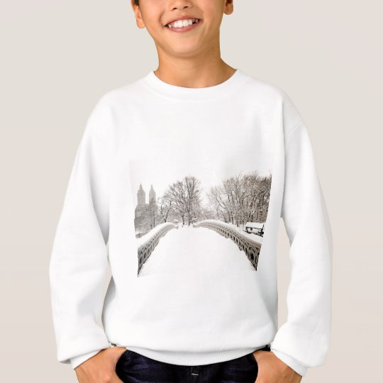 Central Park Winter Romance - Bow Bridge Sweatshirt