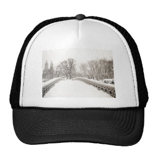 Central Park Winter Romance - Bow Bridge Trucker Hat