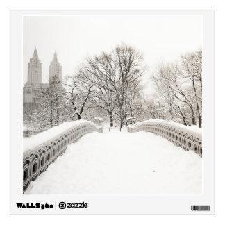 Central Park Winter Romance - Bow Bridge Wall Sticker