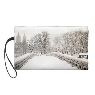 Central Park Winter Romance - Bow Bridge Wristlet Purse