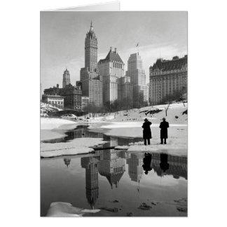 Central Park Winter Scene, 1933 Card
