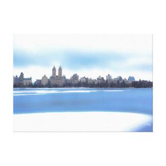 Central Park Winter Snow Landscape Photo Canvas Print