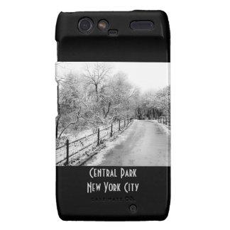 Central Park Winter Snow Landscape Photo Motorola Droid RAZR Covers