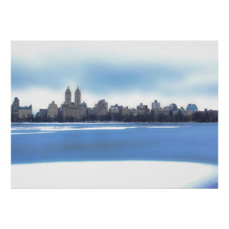 Central Park Winter Snow Landscape Photo Print